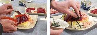メバチマグロチラシ寿司作り方